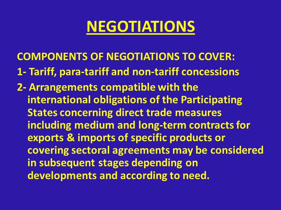 What are the contents \ framework of the trade preferential system agreement .