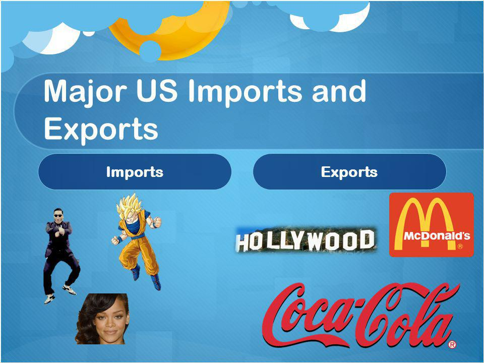 Major US Imports and Exports ImportsExports