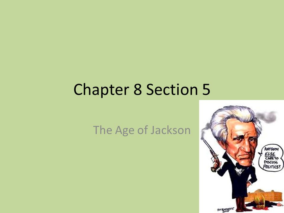 Chapter 8 Section 5 The Age of Jackson