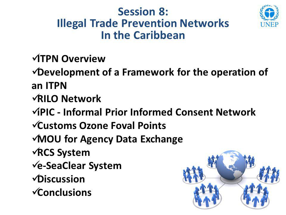 Session 8: Illegal Trade Prevention Networks In the Caribbean ITPN Overview Development of a Framework for the operation of an ITPN RILO Network iPIC
