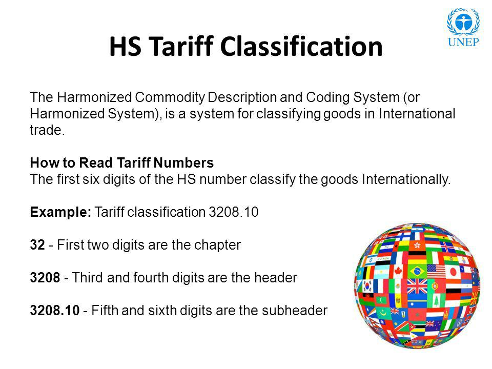 HS Tariff Classification The Harmonized Commodity Description and Coding System (or Harmonized System), is a system for classifying goods in Internati