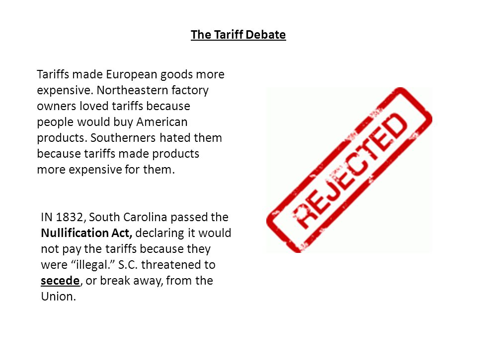 Jackson eased the crisis by passing a bill that would gradually lower the tariffs.
