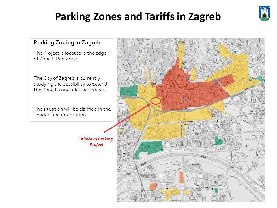 Parking Zones and Tariffs in Zagreb Parking Zoning in Zagreb The Project is located is the edge of Zone I (Red Zone).