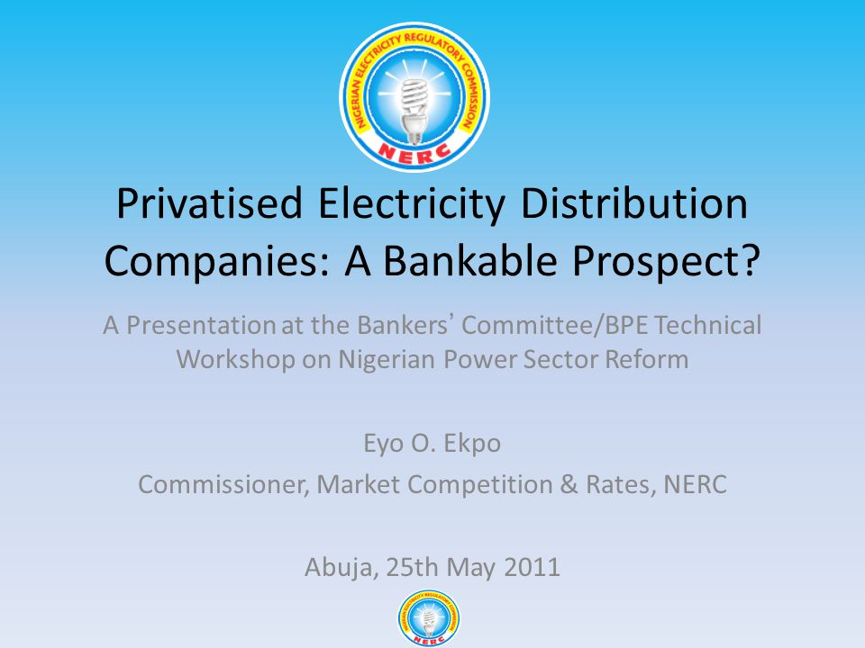 Privatised Electricity Distribution Companies: A Bankable Prospect.