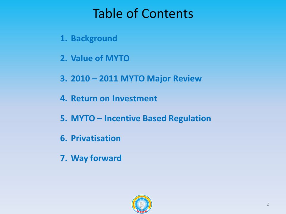 Background 3 Tariff Structure Framework Investor Return Benchmark Returns 1 2 3 4 5 EPSRA requires NERC to establish cost-reflective tariffs NERC has adopted a MYTO framework MYTO balances investor return with consumer welfare MYTOs benchmarks for calculating revenue requirements focus on the EFFICIENT OPERATOR Via MYTO, all licensees recover depreciation, achieve a fair ROI and recover efficient O & M costs