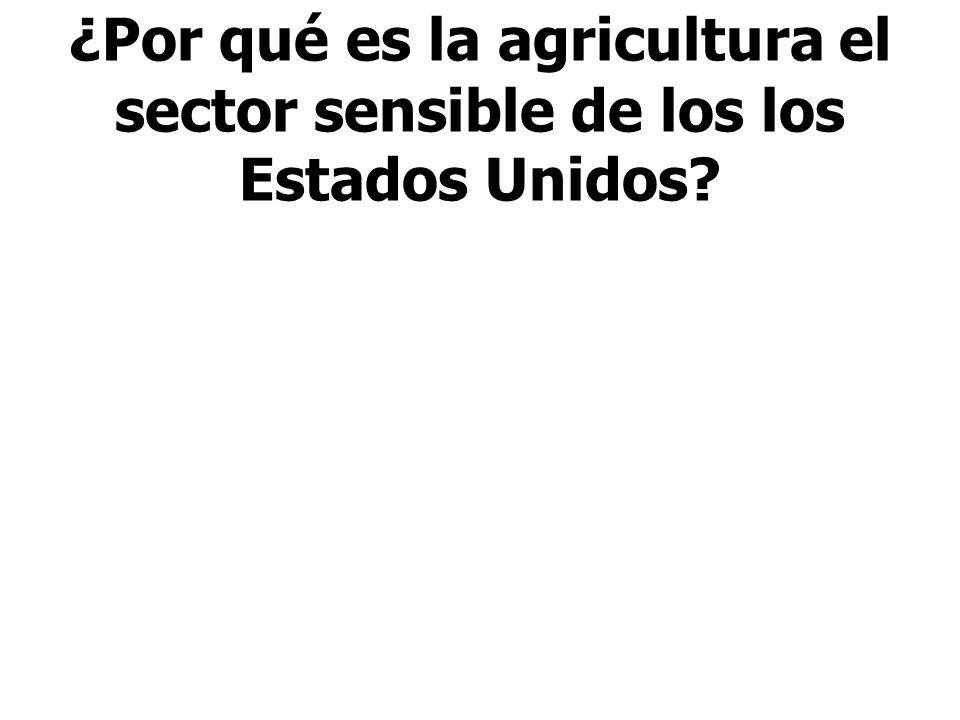 ¿Por qué es la agricultura el sector sensible de los los Estados Unidos