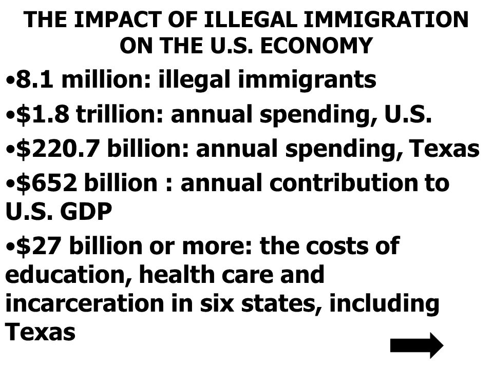 THE IMPACT OF ILLEGAL IMMIGRATION ON THE U.S.