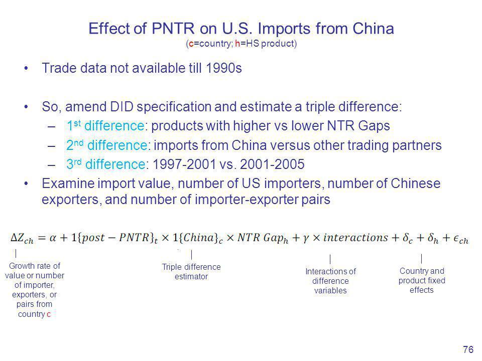 Effect of PNTR on U.S.