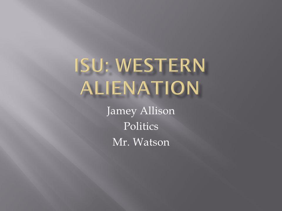 Jamey Allison Politics Mr. Watson