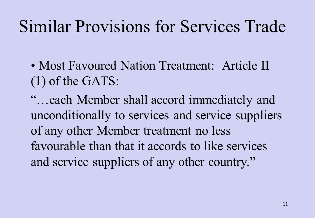 Other Key GATT Articles II: Schedule of Concessions (Bound rates: maximum ceiling level) XVIII bis: Tariff negotiations (GATT to sponsor negotiations