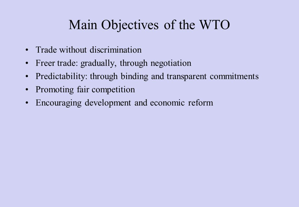 WTO and GATT Source: WTO