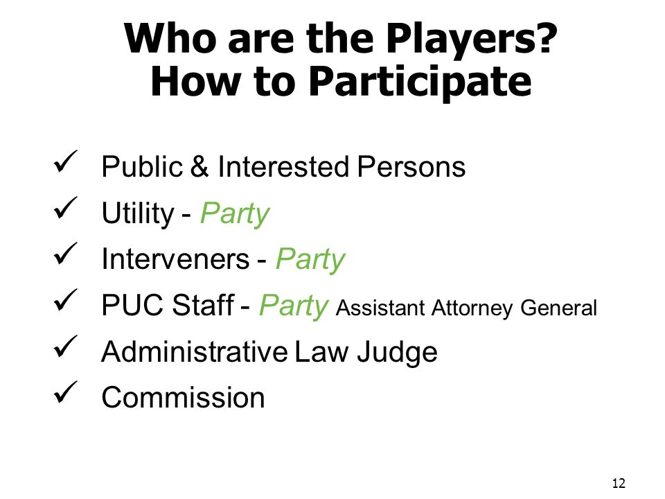 Who are the Players.