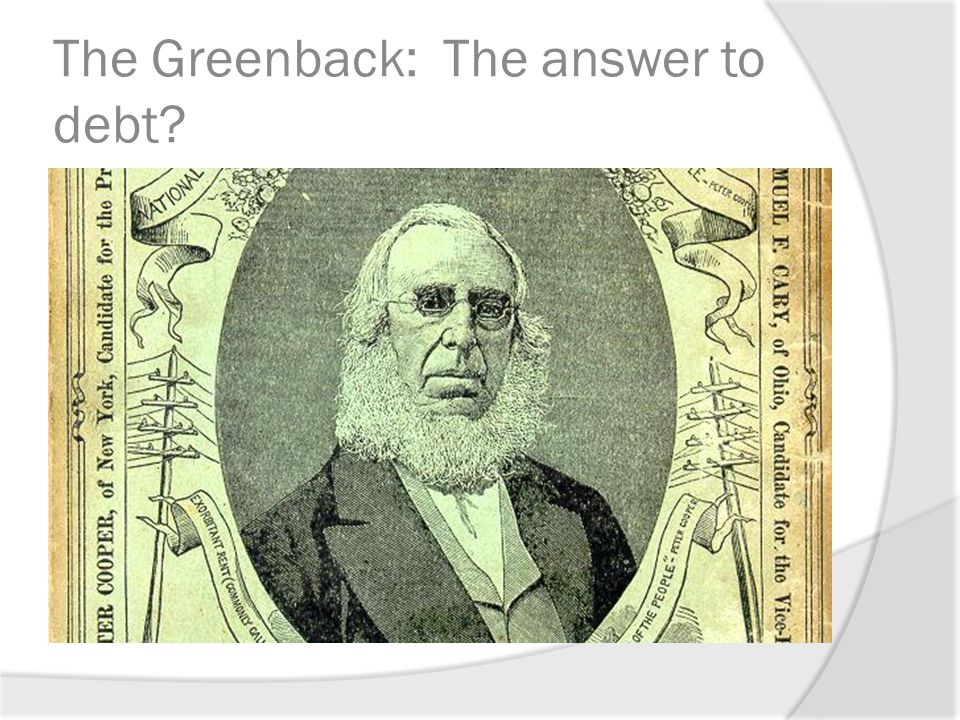 The Greenback: The answer to debt