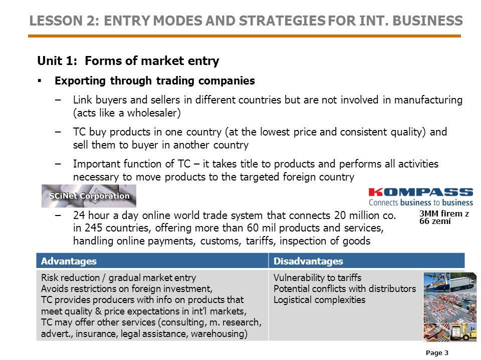 Page 14 LESSON 2: ENTRY MODES AND STRATEGIES FOR INT.