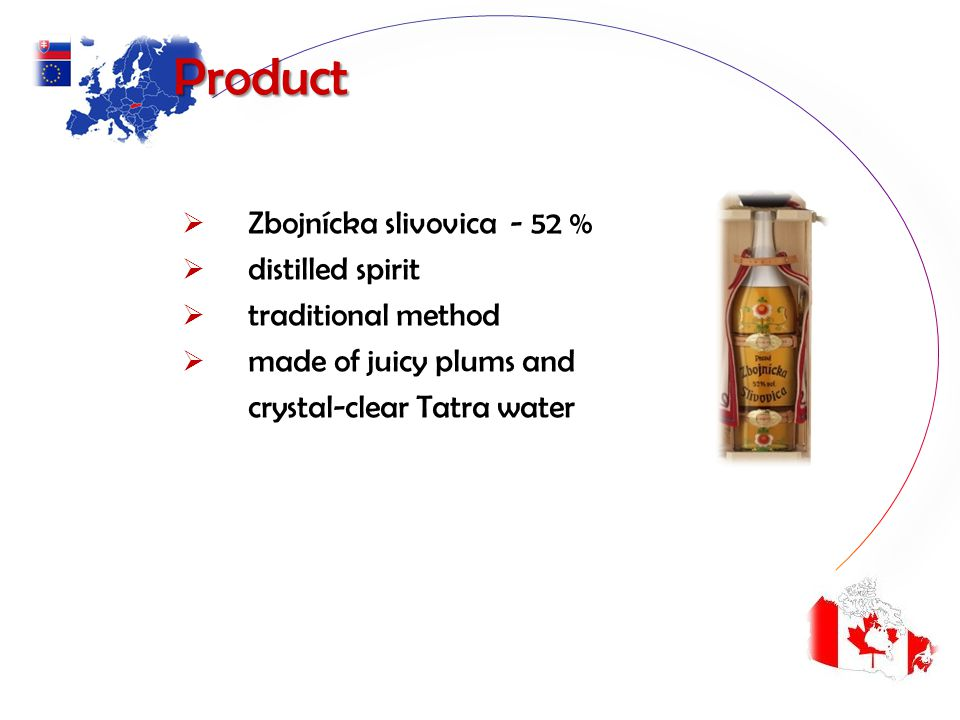 Product Zbojnícka slivovica - 52 % distilled spirit traditional method made of juicy plums and crystal-clear Tatra water