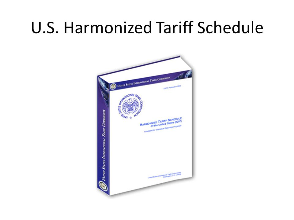 U.S. Harmonized Tariff Schedule