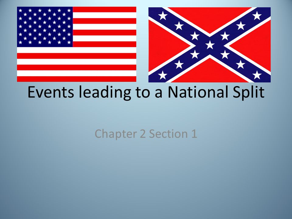 Events leading to a National Split Chapter 2 Section 1