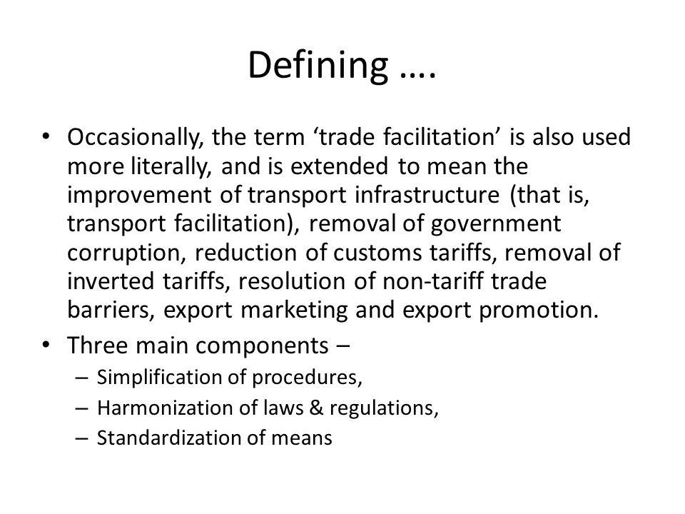Defining ….