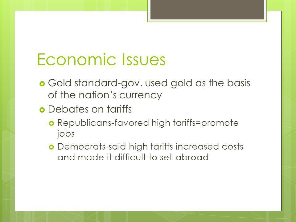 Economic Issues Gold standard-gov.