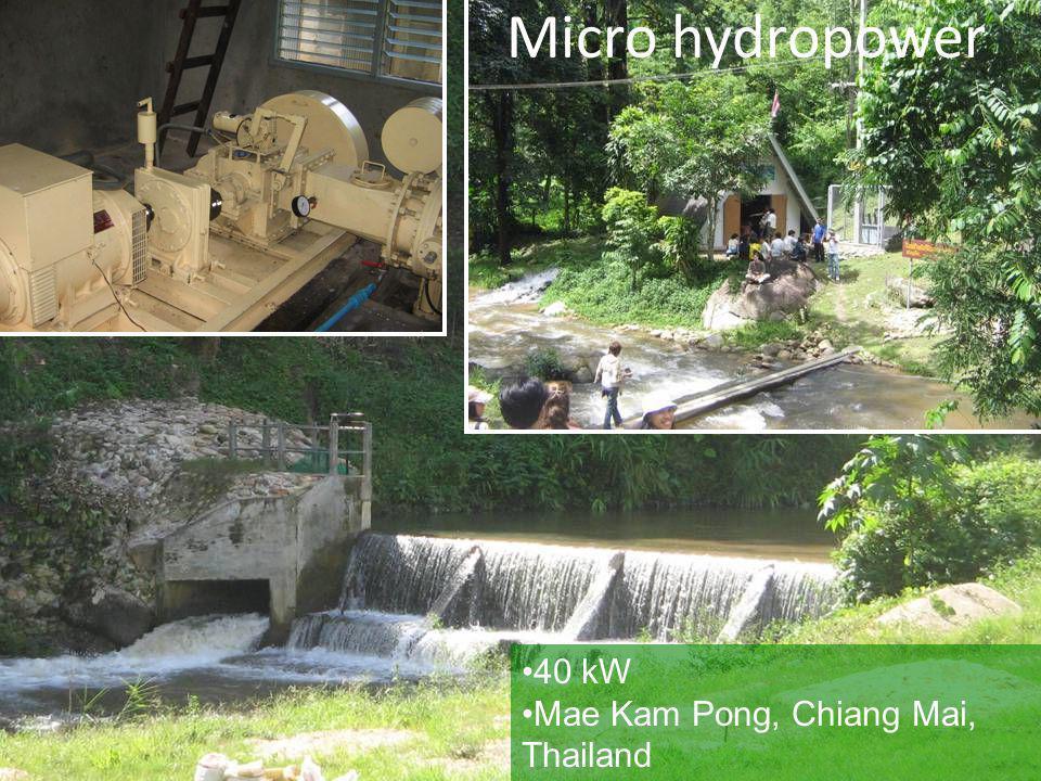 40 kW Mae Kam Pong, Chiang Mai, Thailand Micro hydropower