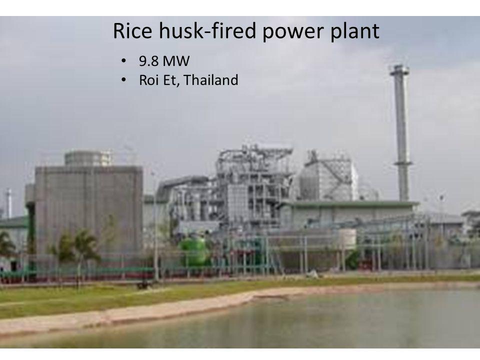 Rice husk-fired power plant 9.8 MW Roi Et, Thailand