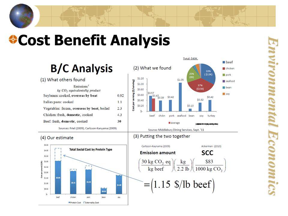 Environmental Economics Cost Benefit Analysis