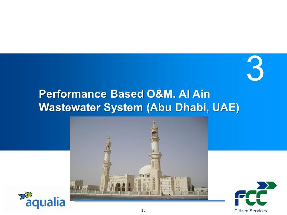 - Datos principals de la actividad técnica del CYII - Mercado nacional - Mercado internacional Performance Based O&M. Al Ain Wastewater System (Abu Dh