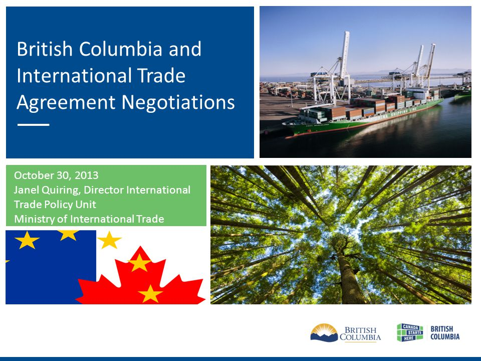 Outline Why is trade important to British Columbia.