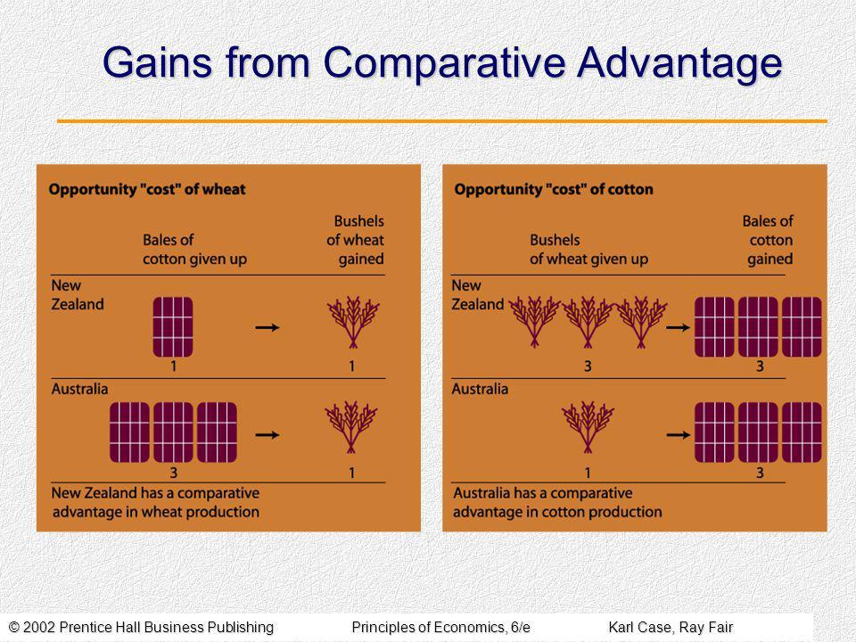 © 2002 Prentice Hall Business PublishingPrinciples of Economics, 6/eKarl Case, Ray Fair Gains from Comparative Advantage