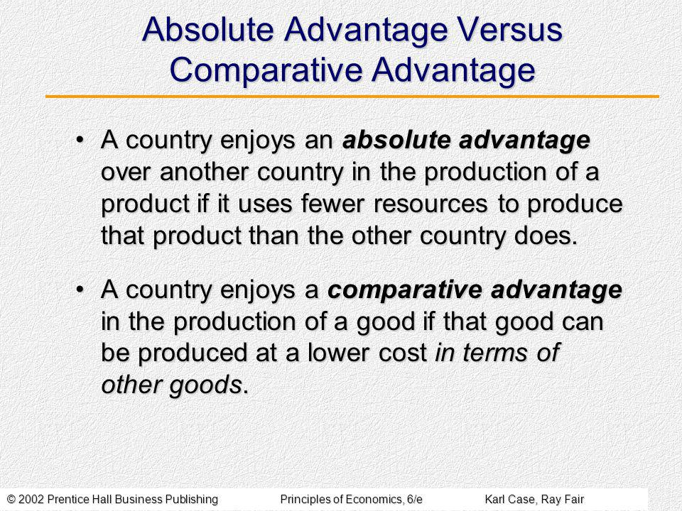 © 2002 Prentice Hall Business PublishingPrinciples of Economics, 6/eKarl Case, Ray Fair Gains from Comparative Advantage Stage 1: Australia transfers all its land into cotton production.