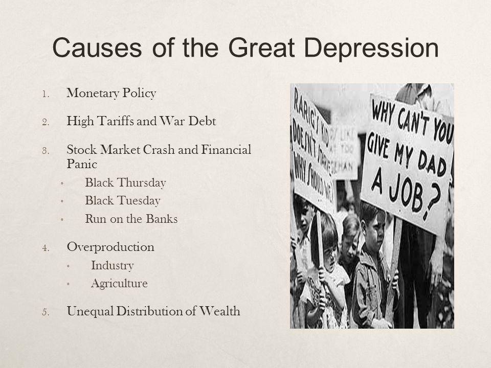 Causes of the Great Depression 1.Monetary Policy 2.