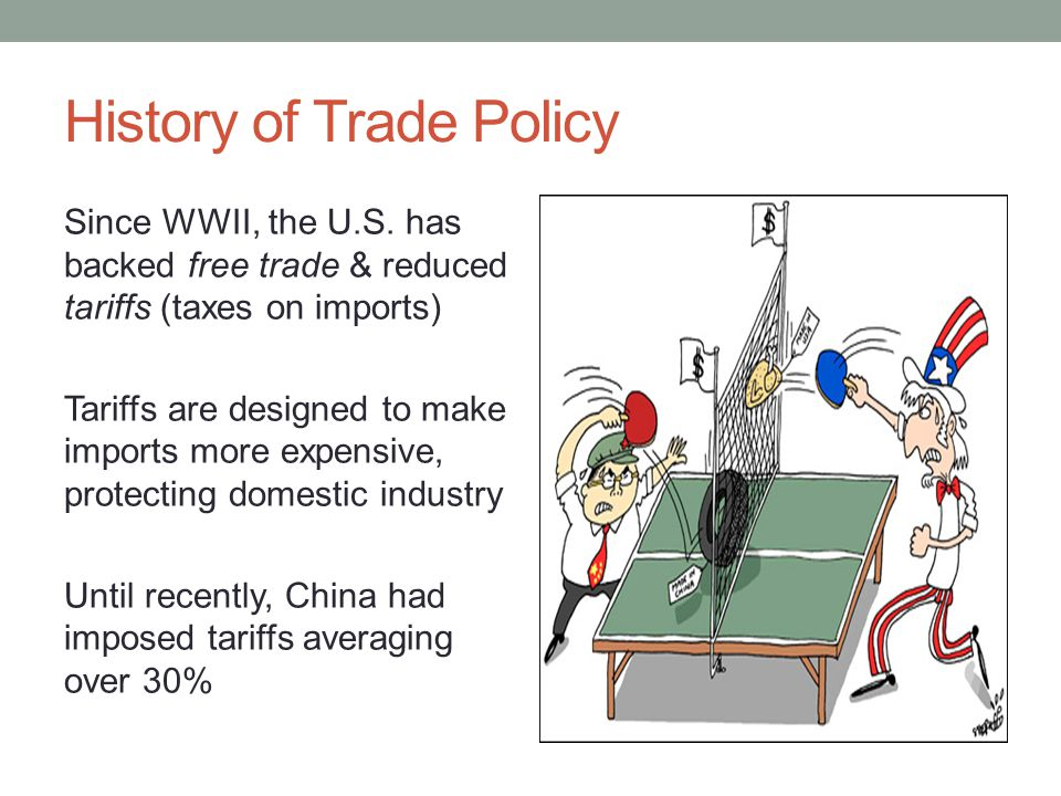China in the WTO China joined in 2001 U.S.