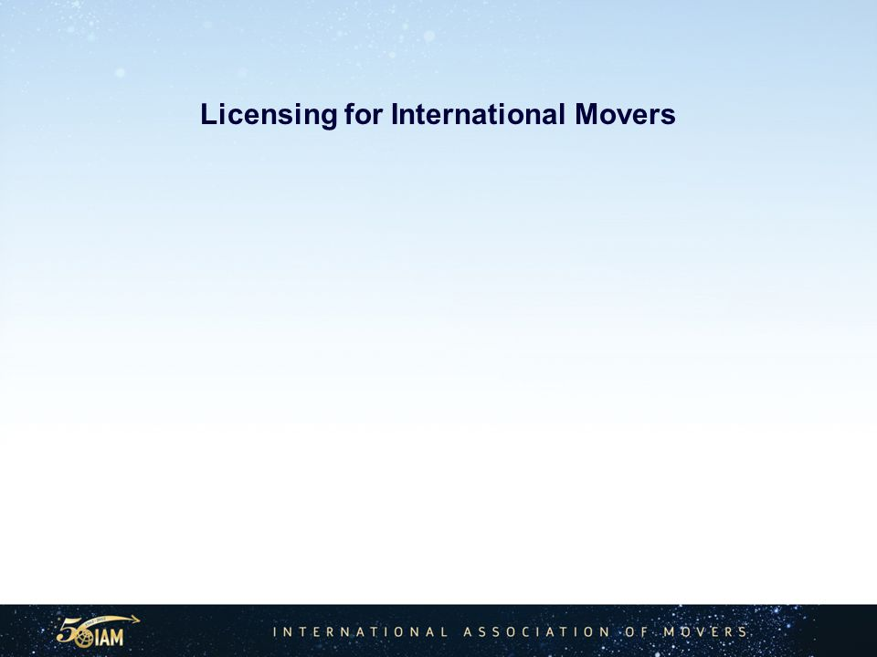 Licensing for International Movers