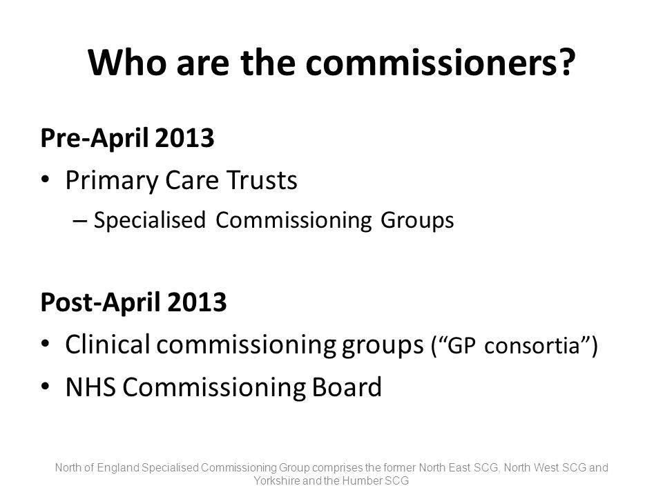 Who are the commissioners.