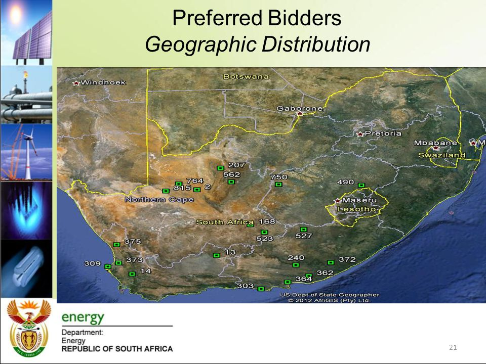 Preferred Bidders Geographic Distribution 21