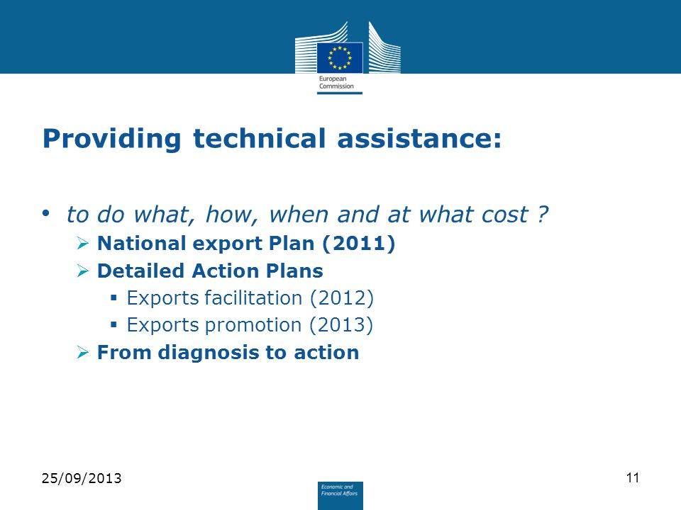 Providing technical assistance: to do what, how, when and at what cost .