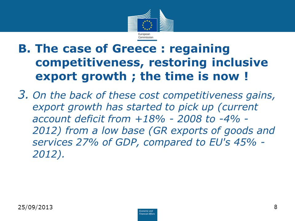 4.Government has made improving export performance a key policy priority.