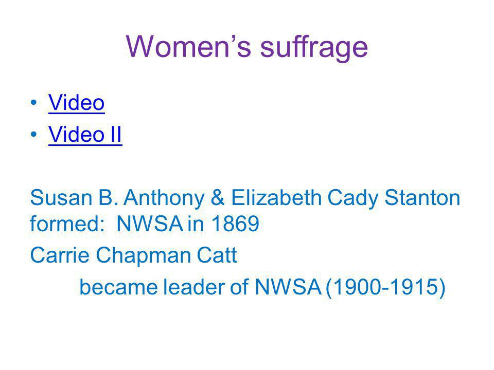 Womens suffrage Video Video II Susan B.