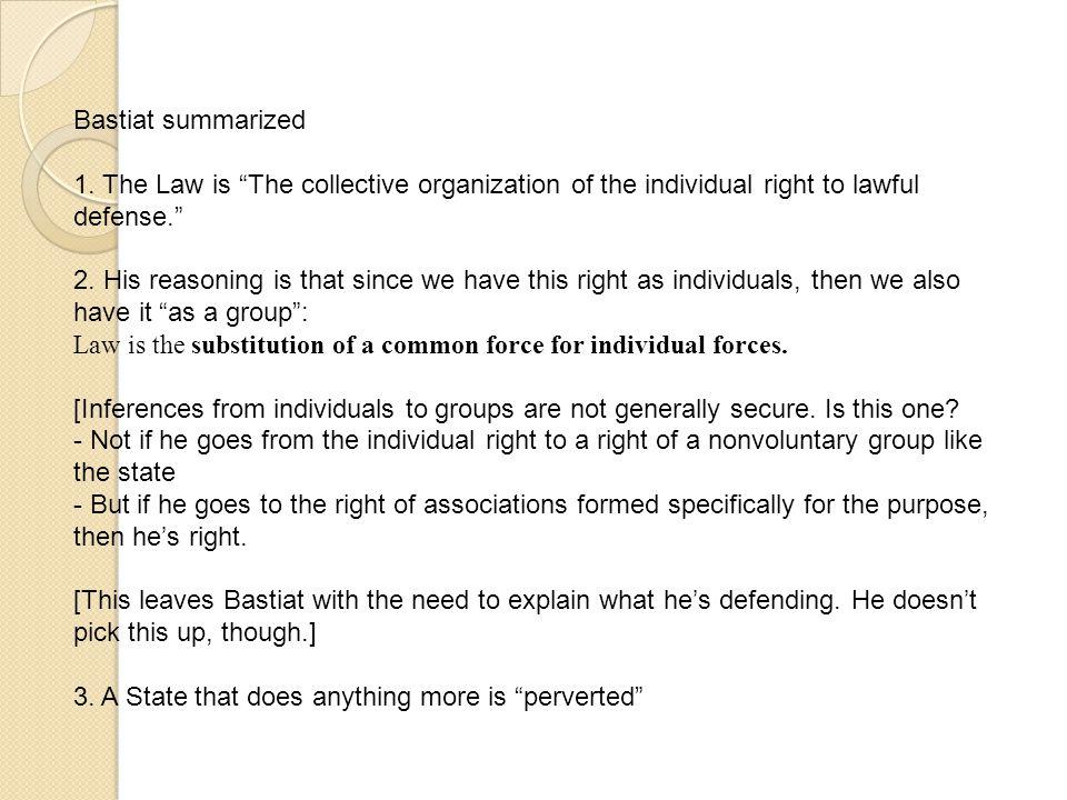 Bastiat summarized 1.