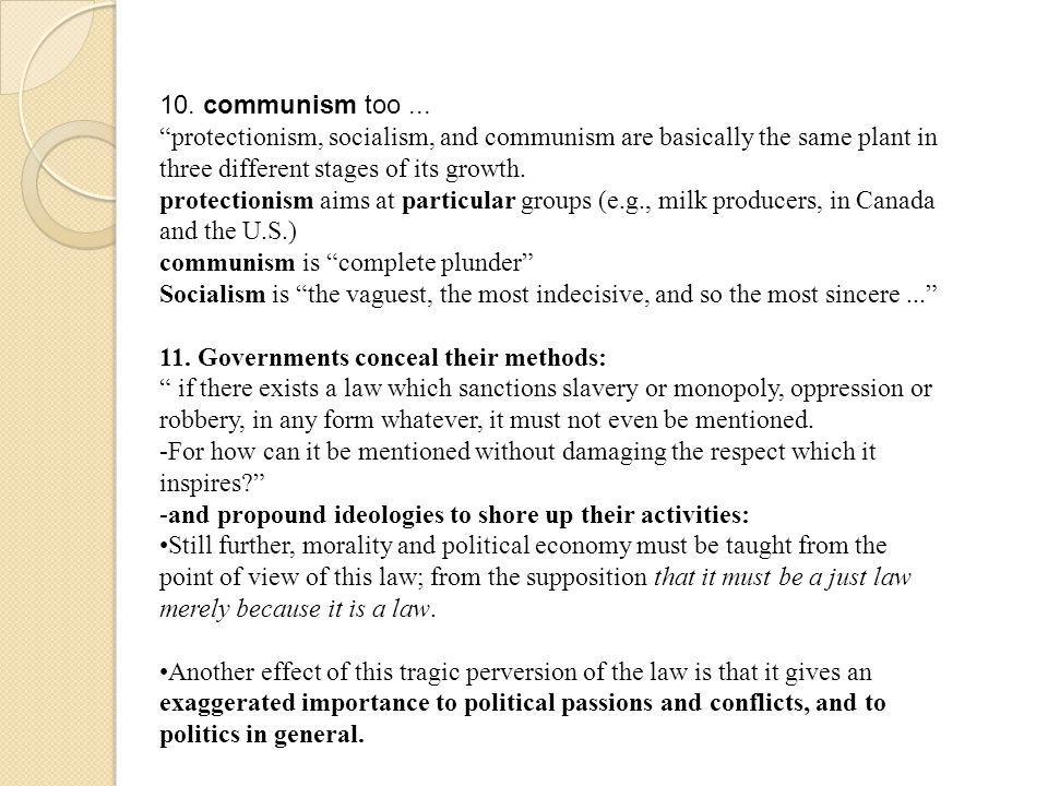 10. communism too...