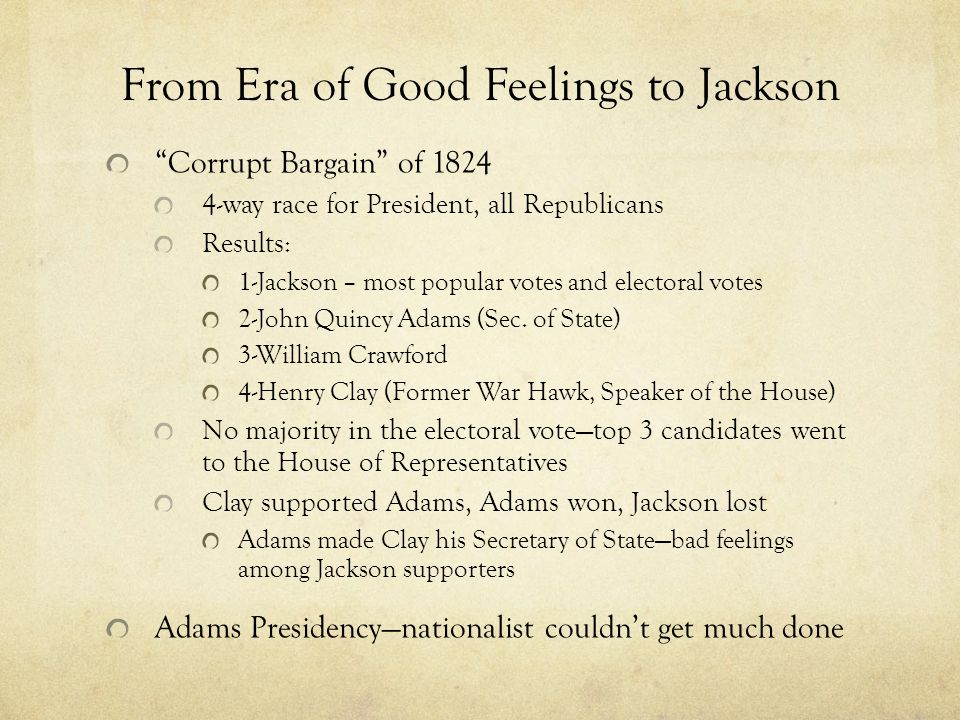 an essay on the jacksonian era Jeffersonian republicanism vs jacksonian democracy essay in contrast to the jeffersonian era, jacksonian democracy jeffersonian republicanism vs jacksonian.