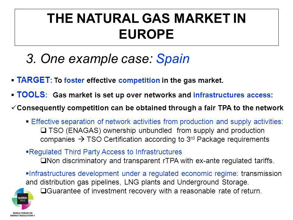 THE NATURAL GAS MARKET IN EUROPE 3.