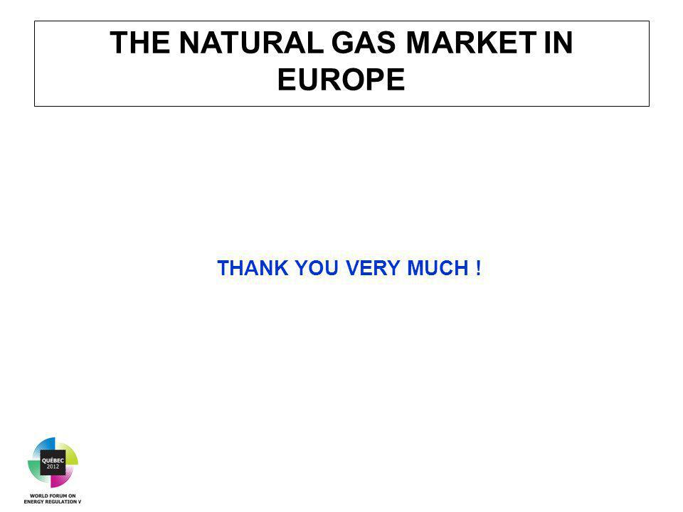 THE NATURAL GAS MARKET IN EUROPE THANK YOU VERY MUCH !