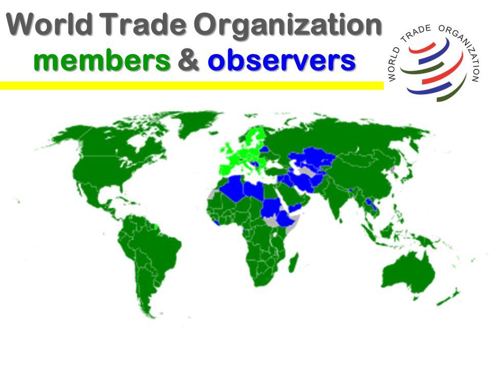 World Trade Organization members & observers