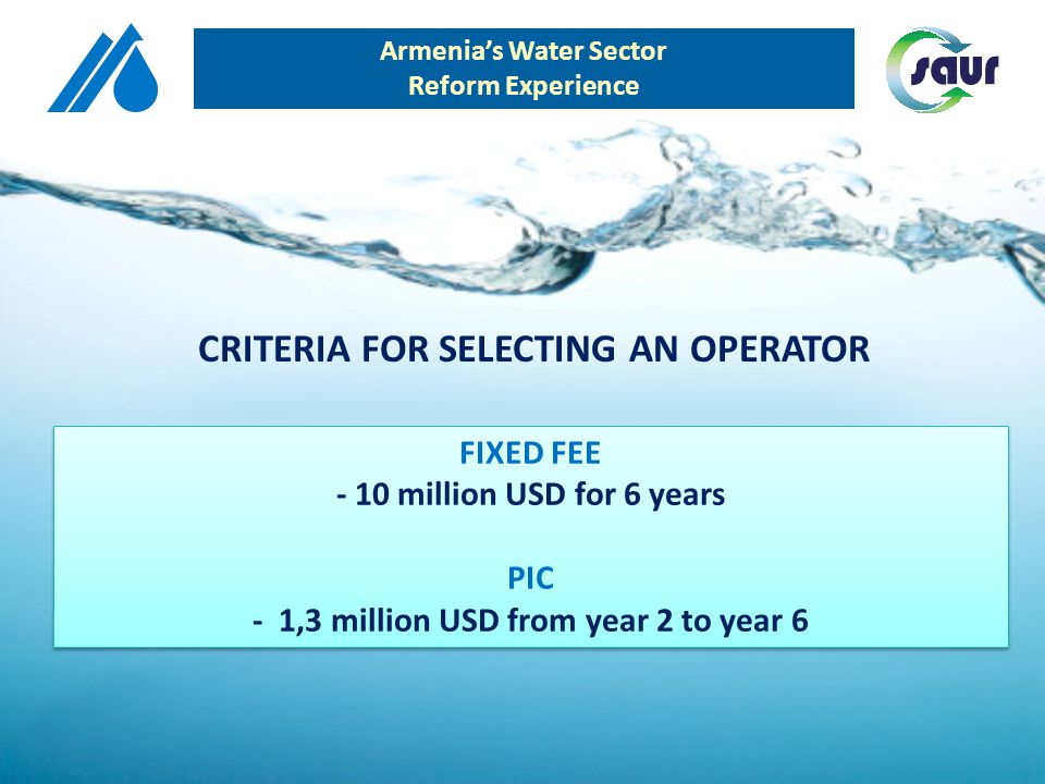 ELECTRICITY CONSUMPTION 2004 2010 Armenias Water Sector Reform Experience