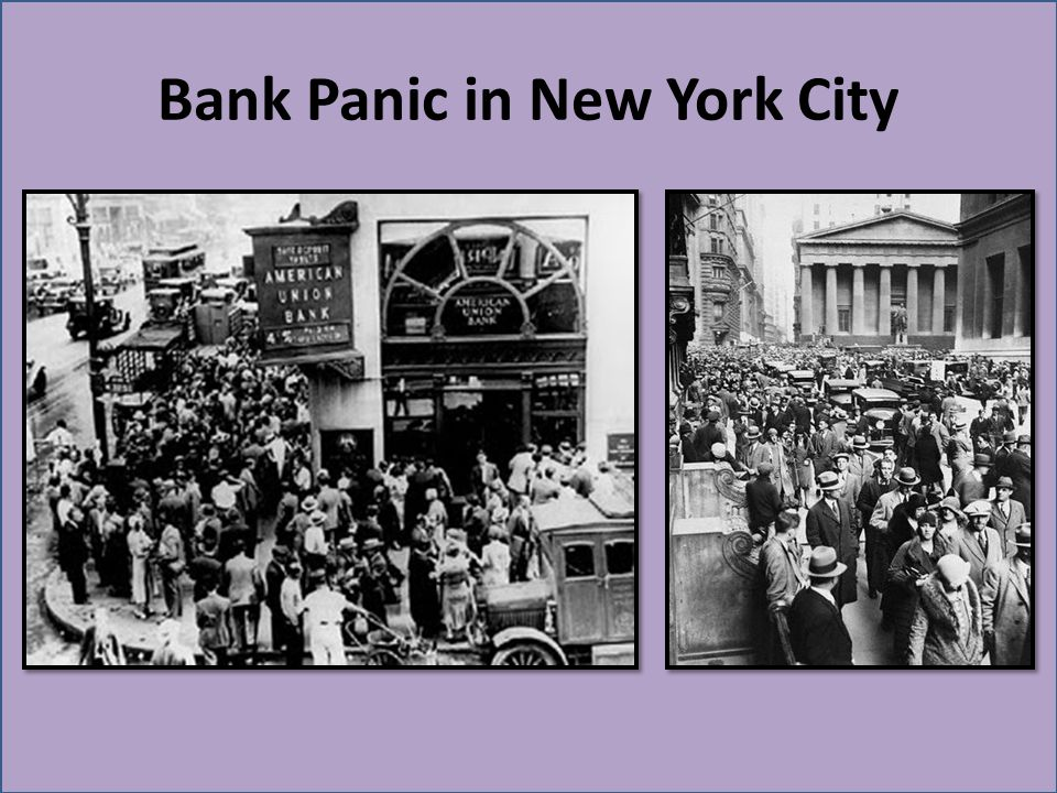 Bank Panic in New York City