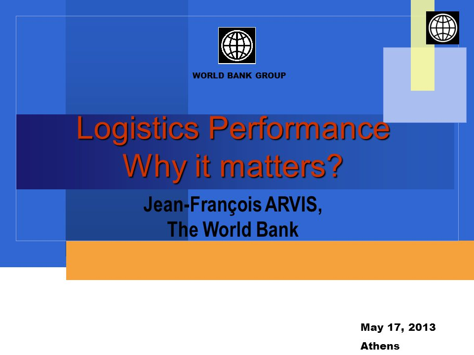 Semantic Logistics = art of organizing physical movement of goods or supply chains Logistics performance = national level concept Trade (and Transport) Facilitation = set of measures and investment to improve logistics performance