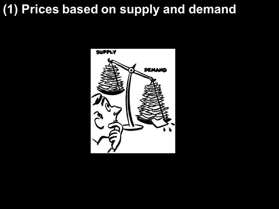 (1) Prices based on supply and demand