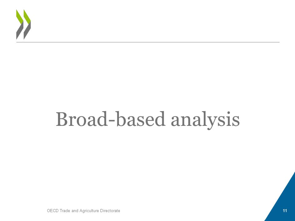 Broad-based analysis OECD Trade and Agriculture Directorate11