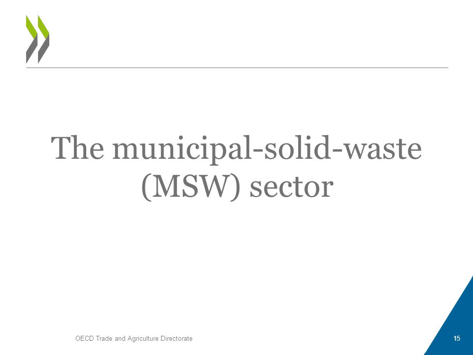 The municipal-solid-waste (MSW) sector OECD Trade and Agriculture Directorate15
